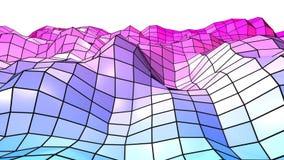 3d som framför låg poly abstrakt geometrisk bakgrund med modern lutning, färgar yttersida 3d med blå röd lutning och Royaltyfri Bild