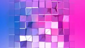 3d som framför låg poly abstrakt geometrisk bakgrund med modern lutning, färgar yttersida 3d med blå röd lutning V1 Arkivbild