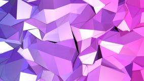 3d som framför låg poly abstrakt geometrisk bakgrund med modern lutning, färgar yttersida 3d med röd violett lutning V1 Fotografering för Bildbyråer