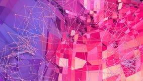 3d som framför låg poly abstrakt geometrisk bakgrund med modern lutning, färgar yttersida 3d som tecknad filmterräng med blått Royaltyfri Fotografi