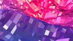 3d som framför låg poly abstrakt geometrisk bakgrund med modern lutning, färgar yttersida 3d som tecknad filmterräng med blått Arkivbild