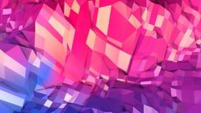 3d som framför låg poly abstrakt geometrisk bakgrund med modern lutning, färgar yttersida 3d som tecknad filmterräng med blått Royaltyfri Foto