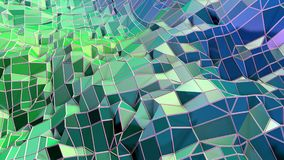 3d som framför låg poly abstrakt geometrisk bakgrund med modern lutning, färgar yttersida 3d som tecknad filmterräng med blått stock illustrationer
