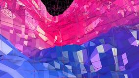 3d som framför låg poly abstrakt geometrisk bakgrund med modern lutning, färgar yttersida 3d som tecknad filmterräng med blått royaltyfri illustrationer