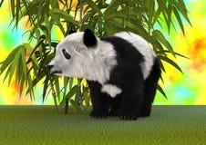 3D som framför Panda Bear Arkivbild