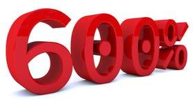 3d som framför procentsatsnummer i röd färg Arkivfoton