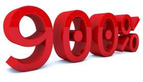 3d som framför procentsatsnummer i röd färg Royaltyfri Foto