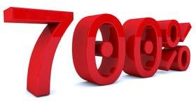 3d som framför procentsatsnummer i röd färg Arkivbilder