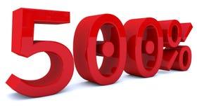 3d som framför procentsatsnummer i röd färg Royaltyfria Bilder