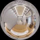3d som framför sfäriska 360 grader, sömlös panorama av sovrummet Royaltyfri Bild