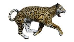 3D som framför stora Cat Jaguar på vit vektor illustrationer