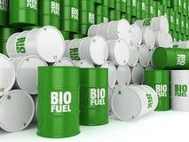 3D som framför trummor av biobränslen Arkivbild