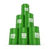 3D som framför trummor av biobränslen Royaltyfri Illustrationer