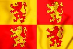 3D Sons of Glyndwr Flag. Stock Photos
