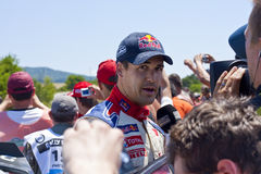 D.Sordo 2 minutes after the finish. 2010 Rally Bulgaria - WRC D.Sordo Royalty Free Stock Photography