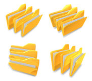 3D Sort documents folder icon. 3D Icon Design Series. Royalty Free Stock Photography