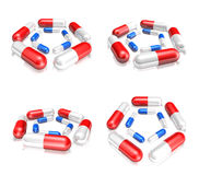 3D Sort icon of pills. 3D Icon Design Series. Royalty Free Stock Photography
