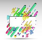 3d sottraggono geometricamente il fondo, per l'insegna - vector eps10 Fotografia Stock