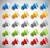 3d Sound Level, Volume Icons/Symbols Stock Photo