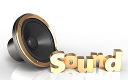 3d 'sound' sign loud speaker Stock Images