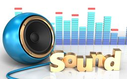 3d 'sound' sign 'sound' sign Stock Photo