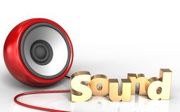 3d 'sound' sign 'sound' sign Royalty Free Stock Images