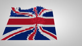 3d sound wave chart textured with the UK flag stock footage