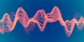 3D Sound waves. Big data abstract visualization. EPS 10 vector illustration. 3D Sound waves. Big data abstract visualization: business charts analytics. Digital royalty free illustration