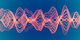 3D Sound waves. Big data abstract visualization. EPS 10 vector illustration. 3D Sound waves. Big data abstract visualization: business charts analytics. Digital vector illustration
