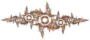 3d soustraient le fond d'illustration de fractale pour la conception créative illustration stock