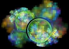 3d soustraient le fond d'illustration de fractale pour la conception créative Photographie stock libre de droits