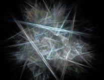 3d soustraient le fond d'illustration de fractale pour la conception créative Image stock