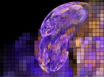 3d soustraient le fond d'illustration de fractale pour la conception créative Image libre de droits
