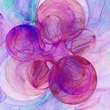 3d soustraient le fond d'illustration de fractale pour la conception créative Photos libres de droits