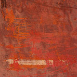 3d soustraient le fond rose orange rouge grunge de mur Photographie stock libre de droits