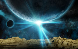 3D space background Stock Photos