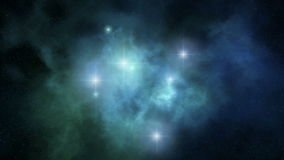 3d space nebula rotation loopable stock video footage