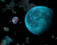 3d space scene Royalty Free Stock Photos
