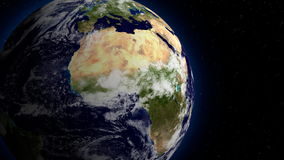 3D space view of planet Earth rotating, elements of this image furnished by Nasa stock video footage
