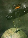 3d Spaceship stock illustration