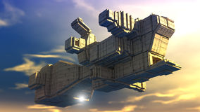 3d Spaceship Royalty Free Stock Photography