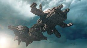 3d Spaceship Royalty Free Stock Photo