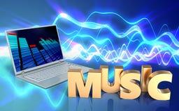 3d spatie van het muziekteken Stock Afbeelding
