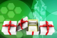 3d special gifts illustration Royalty Free Stock Images