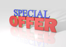 3D Special Offer Royalty Free Stock Image