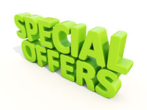 3d Special offers. Special offers icon on a white background. 3D illustration Stock Photo