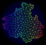 2D spectre polygonal Mesh Vector Map de la République d'Altai illustration libre de droits