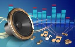 3d spectrum luide spreker Royalty-vrije Stock Afbeelding