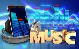 3d spectrum mobiele telefoon Royalty-vrije Stock Afbeelding