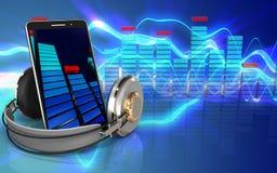 3d spectrum mobiele telefoon Stock Afbeelding
